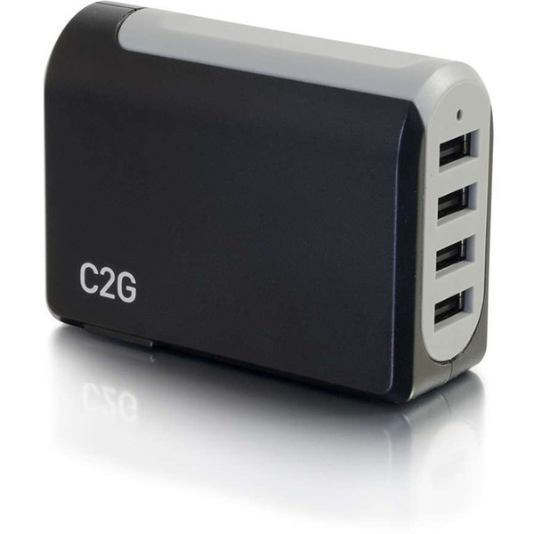C2G 4-Port Usb Wall Charger - Ac To Usb Adapter, 5V 4.8A Output 20277C2G By C2G
