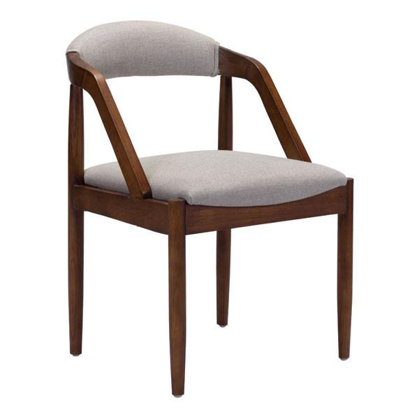 """Homeroots 21.3"""" X 22.4"""" X 31.7"""" Light Gray Linen Dining Chair 296253"""