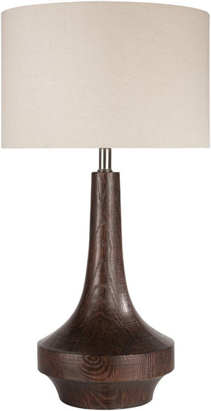 Brown Wood Tone Table Lamp CALP-002