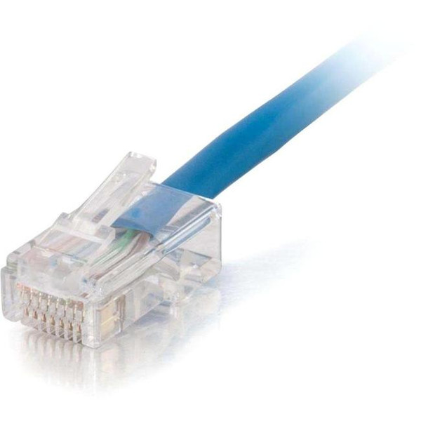 C2G 10Ft Cat5E Non-Booted Unshielded (Utp) Network Patch Cable (Plenum Rated) - Blue 4X1498 By C2G