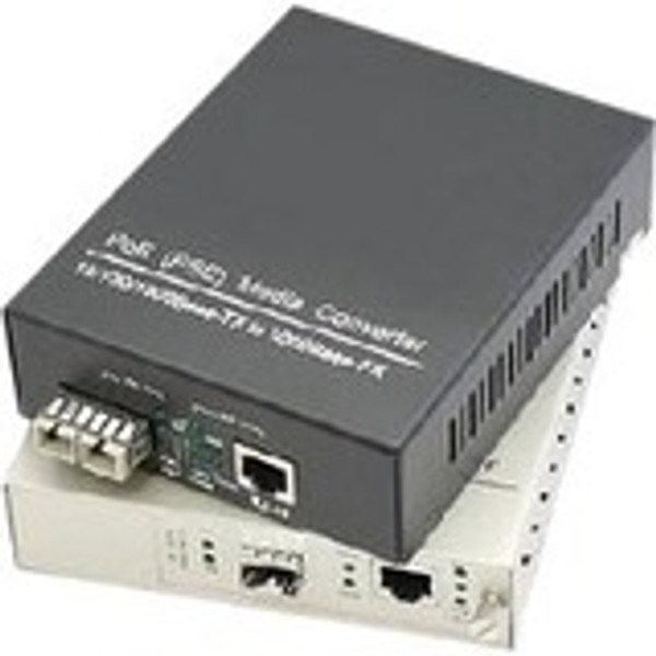 Addon 10/100/1000Base-Tx(Rj-45) To Open Sfp Port Industrial Poe Media Converter 6E3704 By AddOn