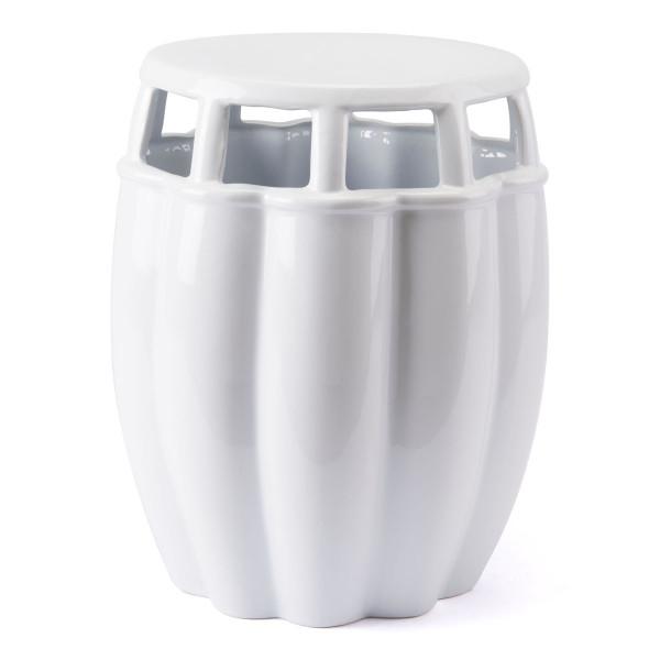 "Homeroots 14.4"" X 14.4"" X 17.1"" White, Ceramic, Seat 364791"