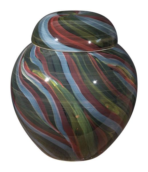 """Homeroots 12"""" X 12"""" X 13.8"""" Multicolor, Ceramic, Medium Jar 364964"""