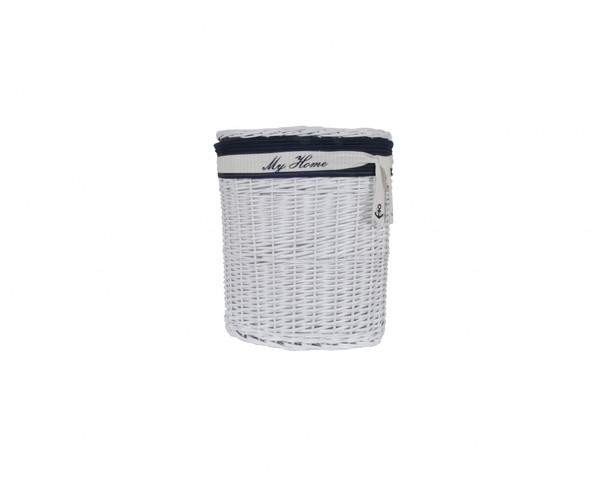"""Homeroots 14.5"""" X 20"""" X 23"""" White, Blue, Oval, Willow - Basket Set Of 5 365075"""