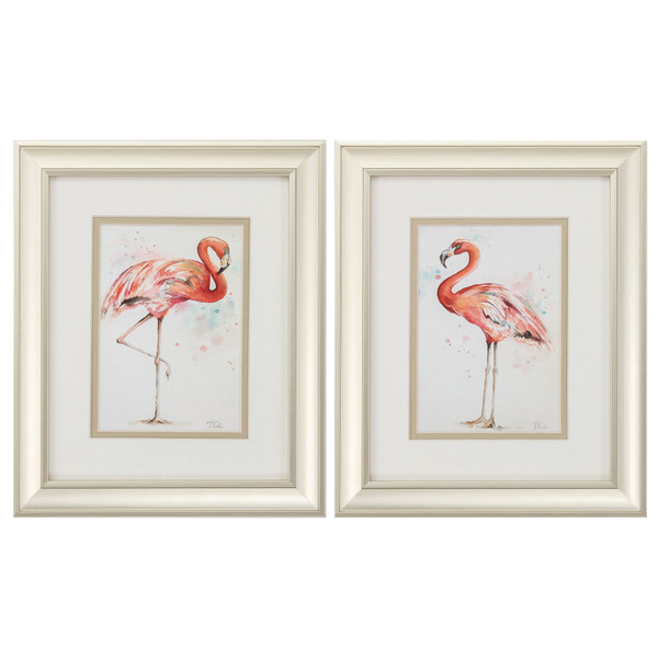 "Homeroots 10"" X 12"" Champagne Gold Color Frame Pink Showoff (Set Of 2) 365108"