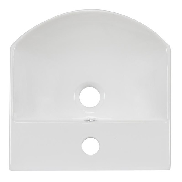 Wall Mount White Vessel Bathroom Sink For 1 Hole Center Drilling