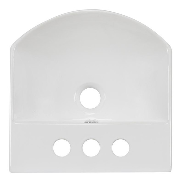 """13.75"""" W Wall Mount White Vessel Bathroom Sink For 3H4"""" Center Drilling"""