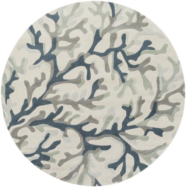 Surya Cosmopolitan Hand Tufted Gray Rug COS-9262 - 8' Round