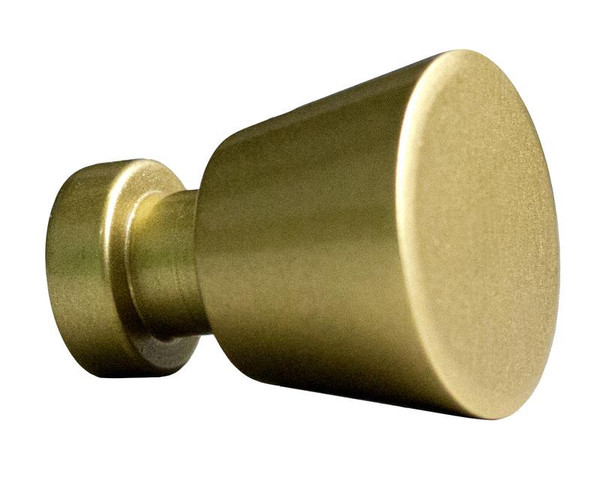 "1"" W Round Brass Cabinet Knob In Gold Color AI-22089"
