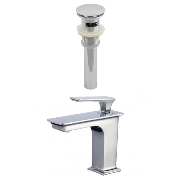 1 Hole Cupc Approved Brass Faucet Set In Chrome - Overflow Drain Incl.