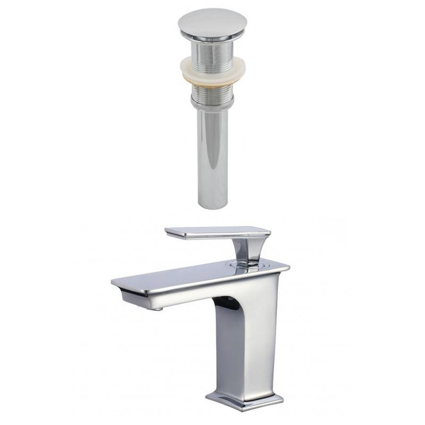 1 Hole Cupc Approved Brass Faucet Set In Chrome Color - Drain Incl.