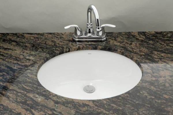 "19.25"" W 15.75"" D Cupc Certified Oval Undermount Sink In White Color"