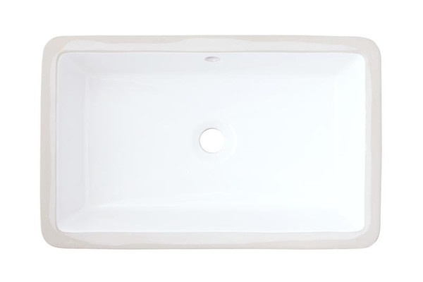 Cupc Certified Rectangle Undermount Sink In White Color