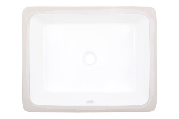"19.5"" W 15.75"" D Cupc Certified Rectangle Undermount Sink In White Color"