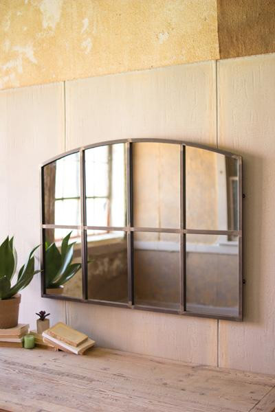Arched Metal Wall Mirror CHYK1119 By Kalalou