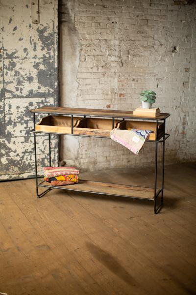 Wood And Metal Display Console CLL2340 By Kalalou
