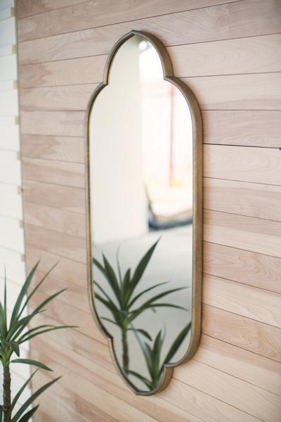 Large Metal Framed Mirror CMNQ1018 By Kalalou