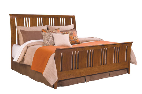 Kincaid Cherry Park Sleigh King Bed - Complete 63-152PV