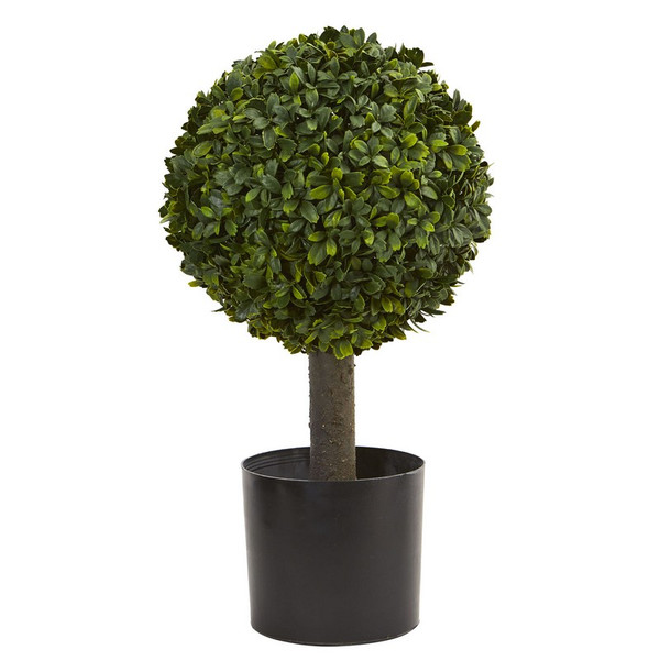 """21"""" Boxwood Ball Topiary Artificial Tree 4596 By Nearly Natural"""