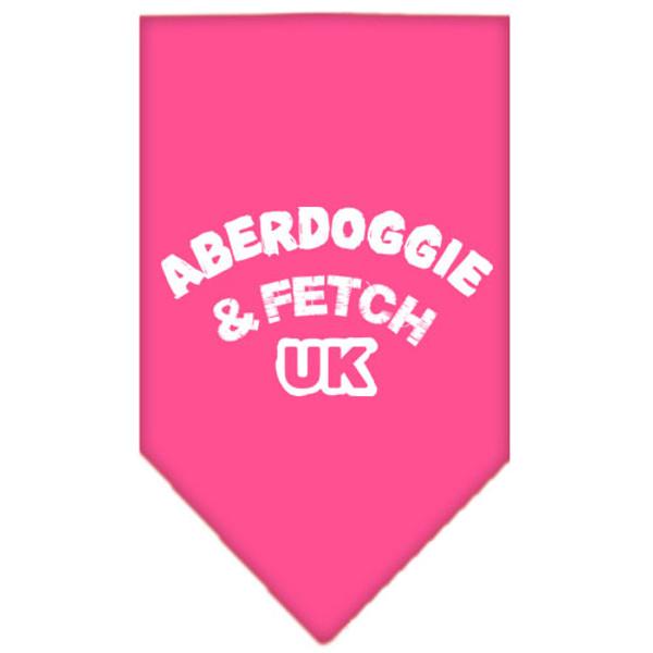 Aberdoggie Uk Screen Print Bandana Bright Pink Small 66-02 SMBPK By Mirage
