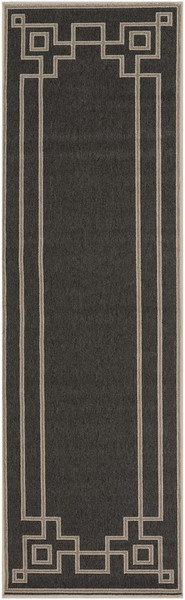 "Surya Alfresco Machine Made Black Rug ALF-9630 - 2'3"" x 7'9"""