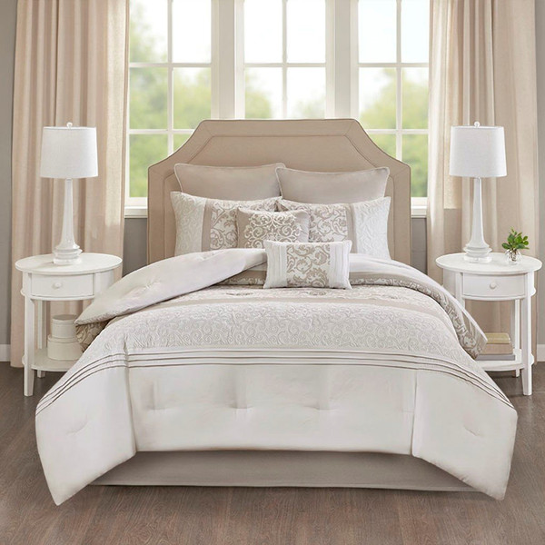 510 Design Ramsey Embroidered 8 Piece Comforter Set - Cal King 5DS10-0049