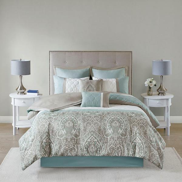 510 Design Shawnee 8 Piece Comforter Set - King 5DS10-0051 By Olliix