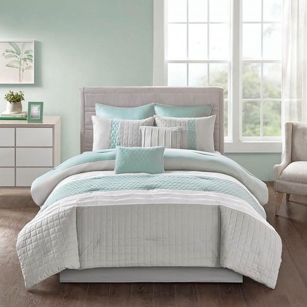 510 Design Tinsley 8 Piece Comforter Set - Queen 5DS10-0053 By Olliix