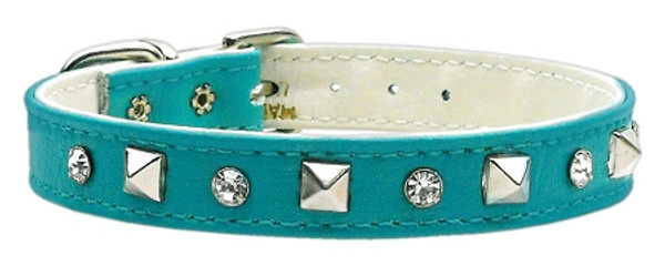 """""""Just The Basics"""" Crystal And Pyramid Collars Turquoise 10 84-01 10TQ By Mirage"""