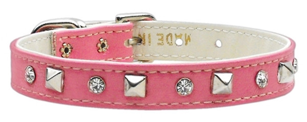 """Just The Basics"" Crystal And Pyramid Collars Pink 12 84-01 12PK By Mirage"