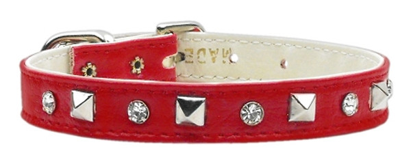 """""""Just The Basics"""" Crystal And Pyramid Collars Red 12 84-01 12RD By Mirage"""