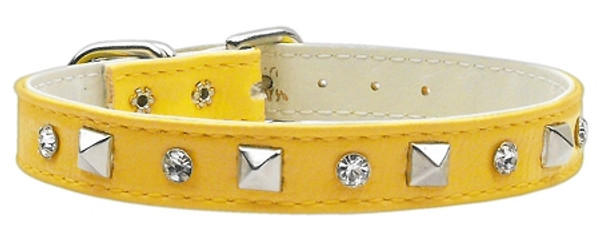 """""""Just The Basics"""" Crystal And Pyramid Collars Yellow 12 84-01 12YW By Mirage"""