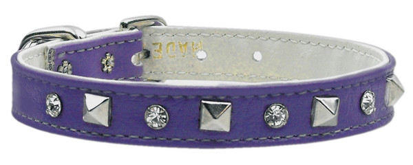"""""""Just The Basics"""" Crystal And Pyramid Collars Purple 14 84-01 14PR By Mirage"""