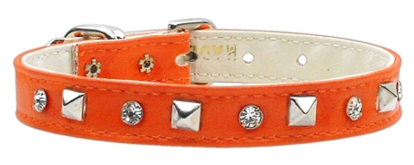 """""""Just The Basics"""" Crystal And Pyramid Collars Orange 16 84-01 16OR By Mirage"""