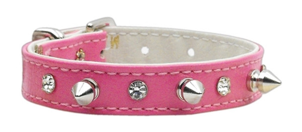 """""""Just The Basics"""" Crystal And Spike Collars Pink 12 84-02 12PK By Mirage"""