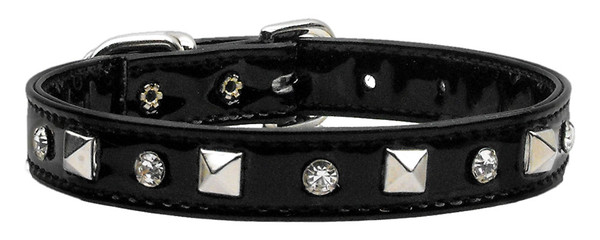 Patent Crystal And Pyramid Collars Black 16 84-20 16BK By Mirage