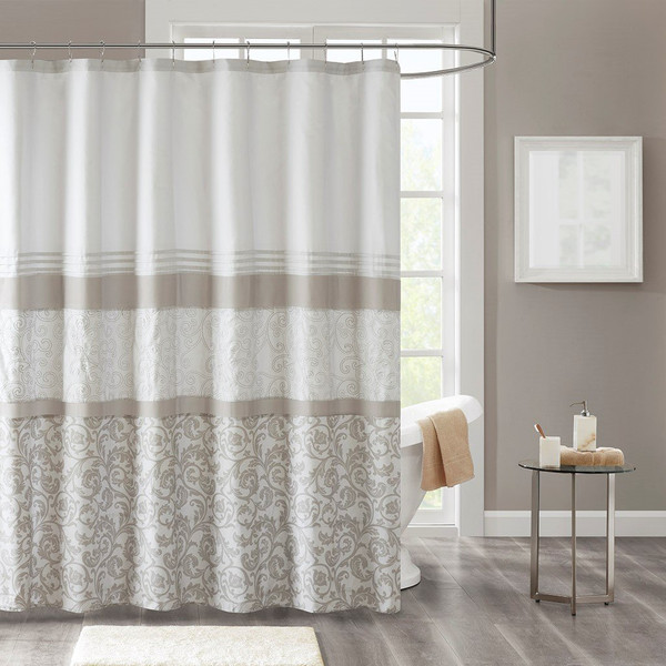 "510 Design Ramsey Printed And Embroidered Shower Curtain - 72X72"" 5DS70-0093"