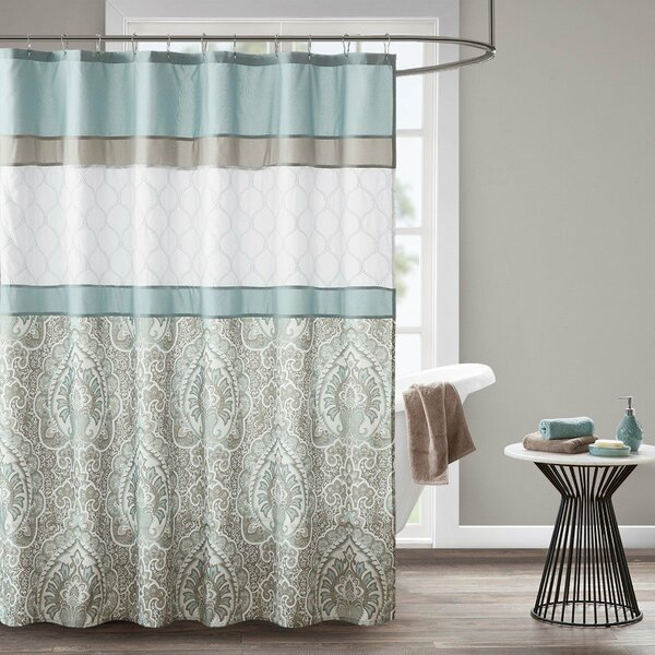 """510 Design Shawnee Printed And Embroidered Shower Curtain - 72X72"""" 5DS70-0094"""