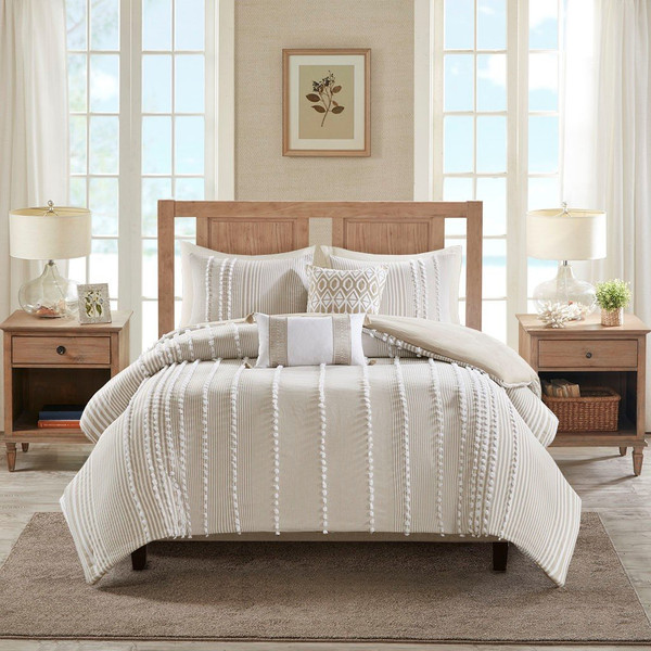 3 Piece Cotton Yarn Dyed Comforter Set -Full/Queen Hh10-1689