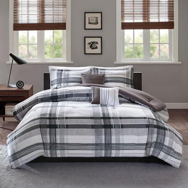 Intelligent Design Rudy Plaid Comforter Set -Full/Queen Id10-1330