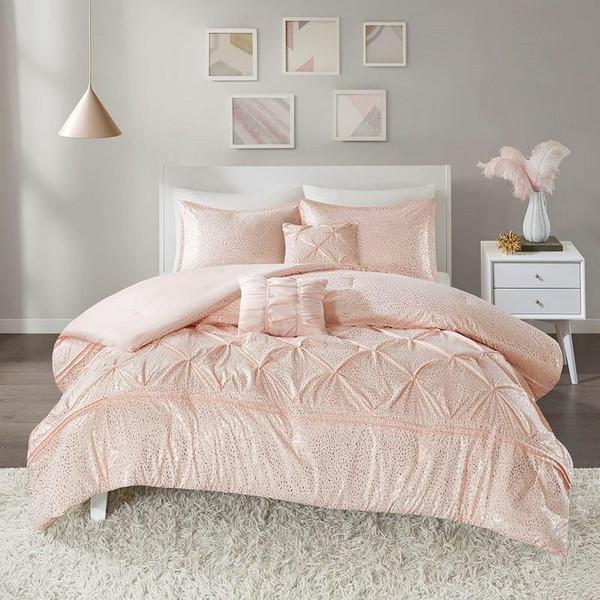 Intelligent Design Metallic Comforter Set -Twin/Twin Xl Id10-1341