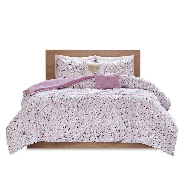 Intelligent Design Abby Metallic Printed And Pintucked Comforter - Twin/Twin Xl ID10-1674