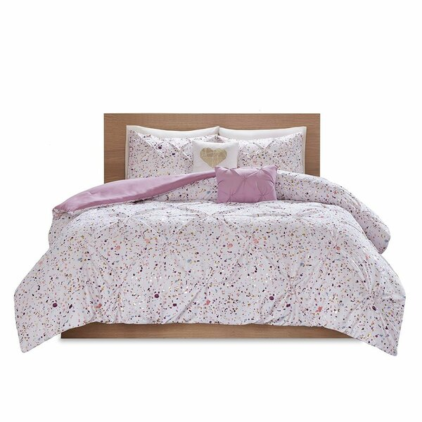Intelligent Design Abby Metallic Printed And Pintucked Comforter - Full/Queen ID10-1675