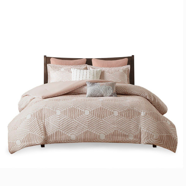 Ink+Ivy Ellipse Cotton Jacquard Comforter Set - Full/Queen II10-1052