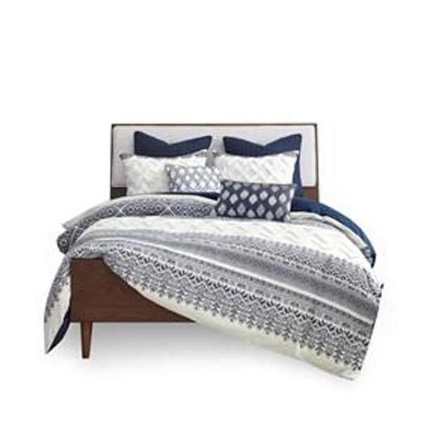 INK+IVY Mila 100% Cotton Printed Comforter Set W/ Chenille II10-1061 By Olliix