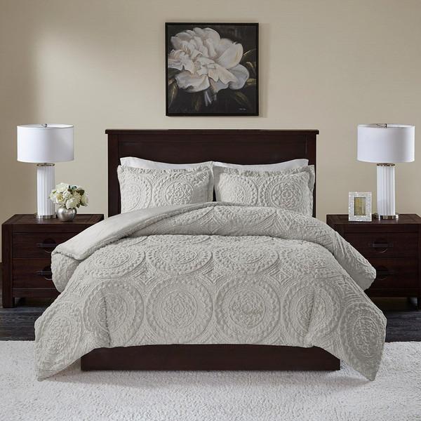 Madison Park Arya Medallion Ultra Plush Comforter Mini Set - King/Cal King MP10-6014