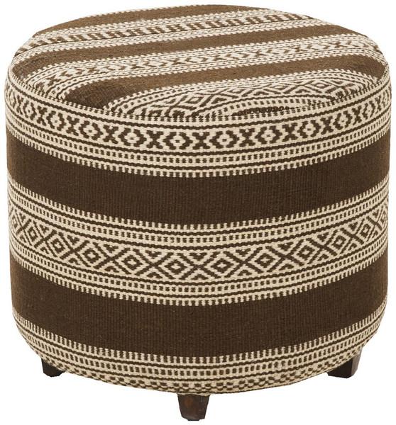 Chocolate & Beige Ottoman - 20 X 20 X 18 FL1034-505045