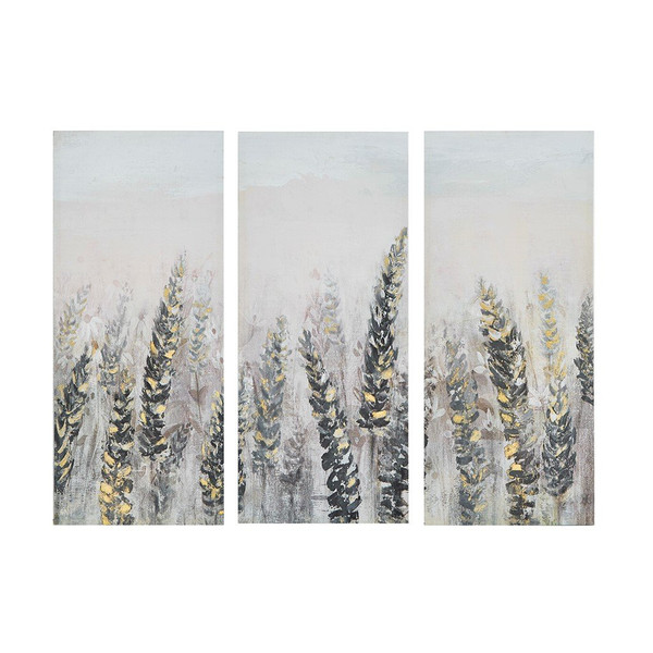 Madison Park Emmer Fields Printed Canvas With Gold Foil 3 Piece Set MP95C-0223