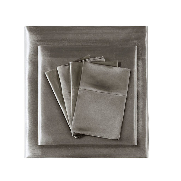 Madison Park Essentials Satin Wrinkle-Free Luxurious 6-Piece Sheet Set - Full MPE20-768