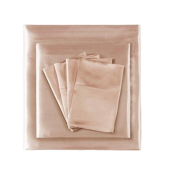 Madison Park Essentials Satin Wrinkle-Free Luxurious 6-Piece Sheet Set - Queen MPE20-773